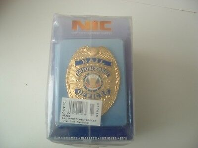 BAIL Enforcement OFFICER Heavy Gold Badge Shield.