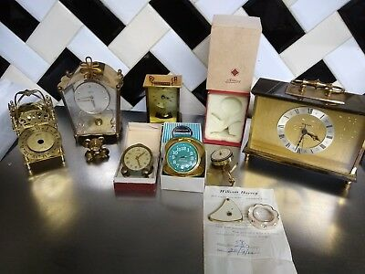 Job Lot Of Vintage Alarm Clocks westclox SCHATZ,ROAMER,STAIGER,KAISER,