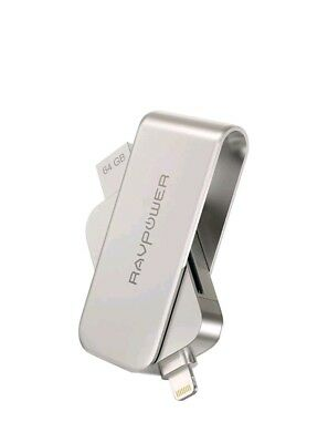 Lightning to SD Card Reader with Memory Stick RAVPower 64GB iPhone Flash Driv...