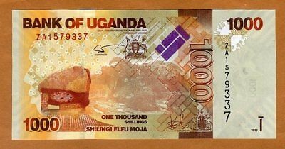 Uganda, 1000 (1,000) Shillings, 2017, Pick 49 (49e), UNC > ZA REPLACEMENT