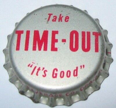 Time-Out Soda Bottle Cap; Dracut, Ma, Pine Spring Beverages; Unused Cork