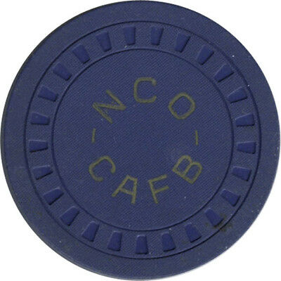 Columbus AFB NCO Club -  $1.00 Chip (Blue Clay)
