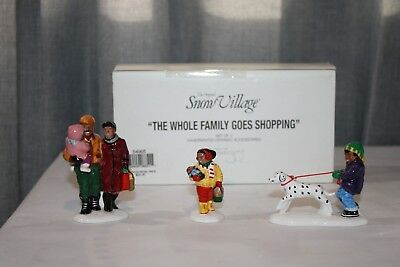 """""""the Whole Family Goes Shopping"""" Dept. 56 Snow Village Accessory With Box"""