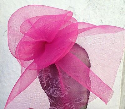 pink fascinator millinery burlesque wedding hat hair piece ascot race bridal x