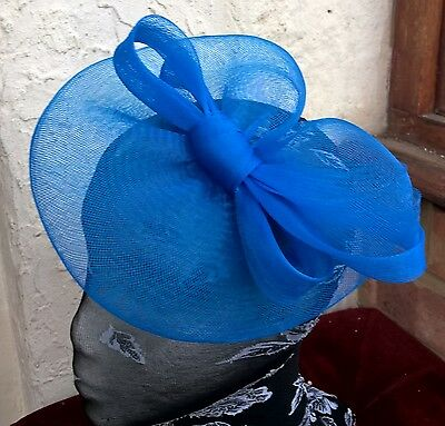5fedf43d royal blue fascinator millinery burlesque wedding hat ascot race bridal  party