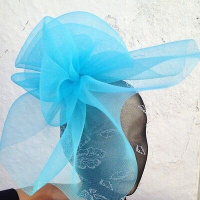 2265d328 turquoise fascinator millinery burlesque wedding hat ascot race bridal party
