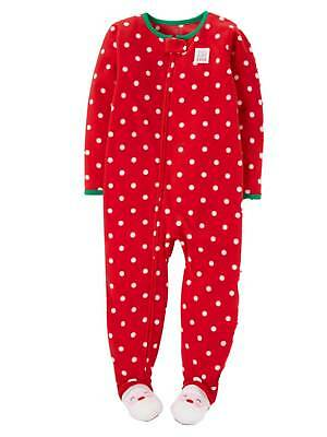 408c4f641 CARTERS INFANT GIRLS Reindeer Sleeper Footed Fleece Christmas ...
