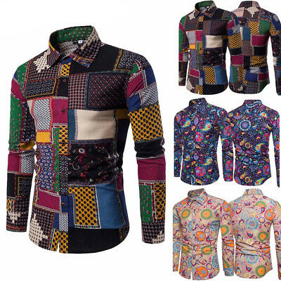New Mens Casual Formal Shirts Slim Fit Shirt Top Long Sleeve Plus Size M-5XL