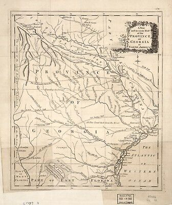 A4 Reprint of American Cities Towns States Map Georgia