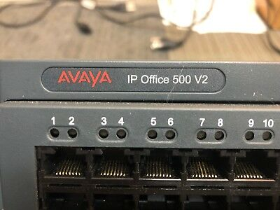 Avaya IP Office Control Unit V2 IP500 VoIP System w/ 2 Combo Cards