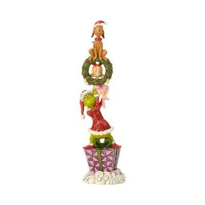Jim Shore Stacked Grinch Max Cindy Lou Who Figurine 6002066 - New 2018 & MINT!