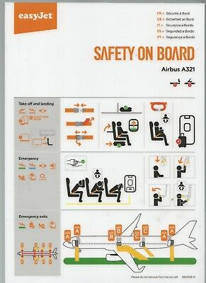 Safety Card       easyJet  A321     06/2018