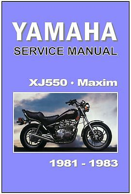 yamaha workshop manual xj550 xj550m maxim 1981 1982 & 1983 service & repair