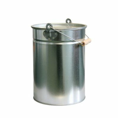 Kaminoflam 14 Litre Ash Bucket -ash Can For Open Fire - Metal Trash Can With Lid