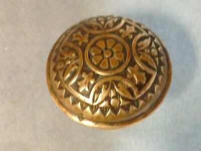 Antique Vintage Brass Victorian Eastlake Door Knob Part