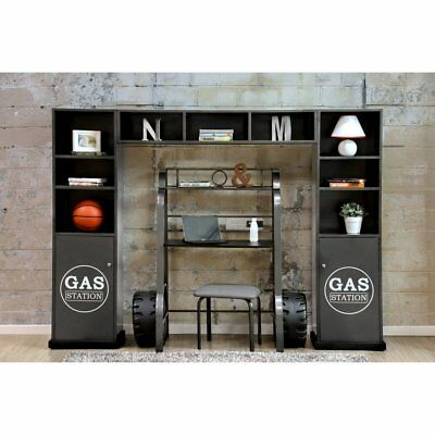 Furniture of America Alred Speed Racer 3 Piece Cabinet and Shelf Set