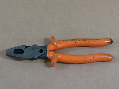 """Klein Tools D213-9NECR-INS Insulated 9"""" Cutting/Crimping Pliers,Lineman,1000V"""