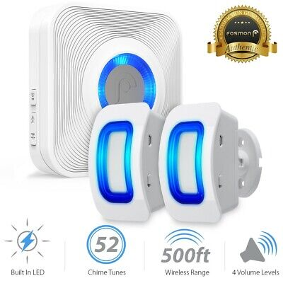 Home Security Wireless Driveway Alarm Doorbell Garage [2 Motion Sensor] Detector