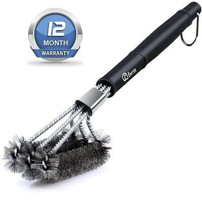 BBQ Grill Brush & Barbecue Cleaning Brushes Bristle Free 100% Rust Resistant...
