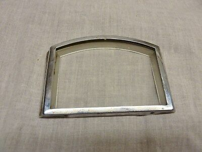 art deco clock parts chrome bezel glass and spacer round top frame spares repair