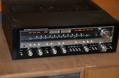 Rare Vintage Pioneer SX-5580 Monster AM FM Stereo Receiver Black Face
