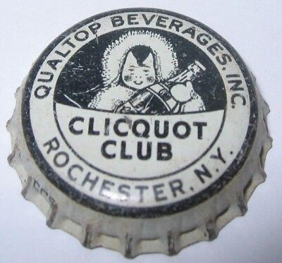 Clicquot Club Soda Bottle Cap; Qualtop Beverages, Rochester, N.y.; Used Cork