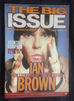 IAN BROWN from THE STONE ROSES The Big Issue classic edition post prison inter..