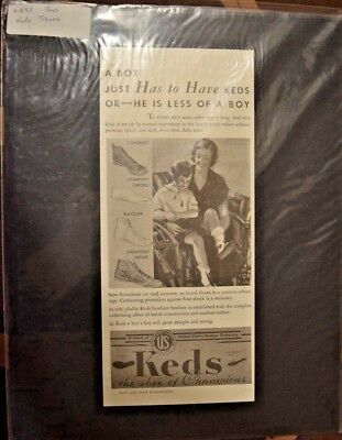 Advertising, Magazine, Keds, Shoes, 1935, Vintage, Mounted, Good Housekeeping,