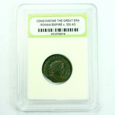 Slabbed Ancient Roman Constantine the Great Coin c. 330 AD Exact Coin Shown 3520