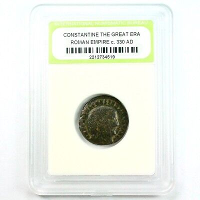 Slabbed Ancient Roman Constantine the Great Coin c. 330 AD Exact Coin Shown 3486