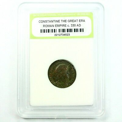 Slabbed Ancient Roman Constantine the Great Coin c. 330 AD Exact Coin Shown 3480