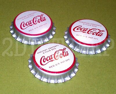 3 COCA-COLA COKE SODA 1960's NICE VINTAGE POP CORK DRINK NOS UNUSED BOTTLE CAP C