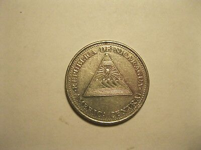 2002 Coin  From Nicaragua - 1 Cordoba - 16 Yrs Old