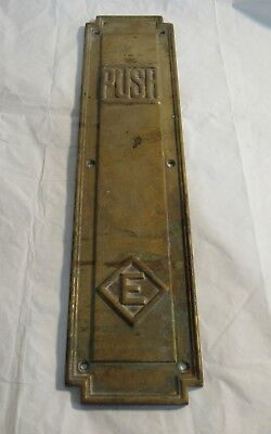 Very Rare Antique Eatons Brass Push Bar Department Store Door Canada Toronto?