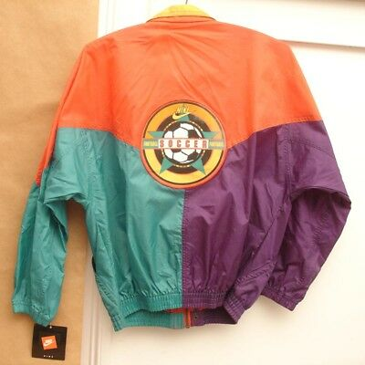 VTG 90's NIKE Soccer Football Windbreaker Jacket,NWT,Youth Large 14/16,Women Sm