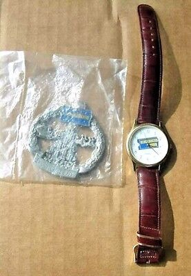Blockbuster Video Wrist Watch - Prize? and, 2003 Employee Love Ornament - New