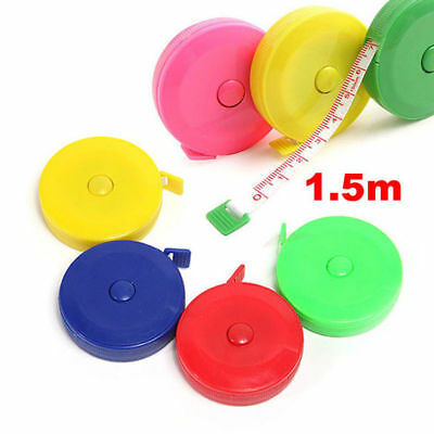 5PCS Retractable Ruler Tape Measure Body Measuring Tailors Sewing Tools Flexible