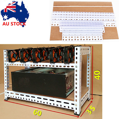 Open Air Miner Mining Frame Rig Case Up to 5 GPU BTC LTC ETH Ethereum Steel