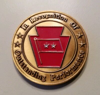 CHALLENGE COIN US ARMY ADJUTANT GENERAL PA Outstanding Performance PENNSYLVANIA