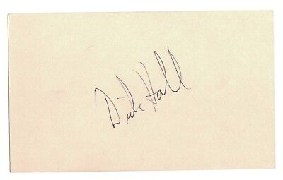 Dick Hall Autograph On A 3x5 Unlined Index Card - Orioles / KC Athletics