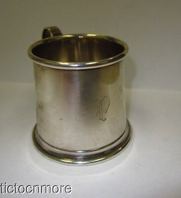 VINTAGE  TIFFANY & Co MAKERS STERLING SILVER CHILD'S BABY STEIN MUG CUP 42g