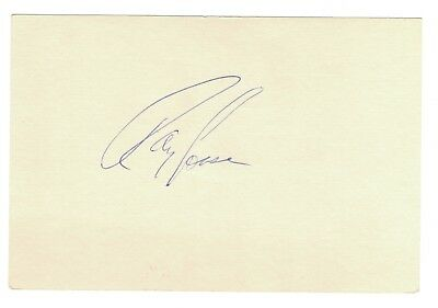 Ray Fosse Autograph On A 4x6 Unlined Index Card - Indians / Athletics