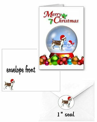 30 Welsh Springer Spaniel Christmas cards seals envelopes 90 pieces snow globe