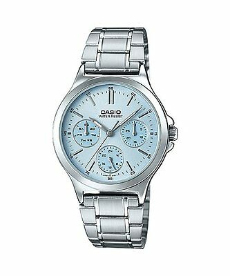 3e87cc1c3583 LTP-V300D-2A Blue Casio Ladies Watches Steel Bands Analog New
