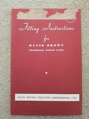 David Brown Vak1 Tractor Engine Conversion Units Fitting Instructions Manual