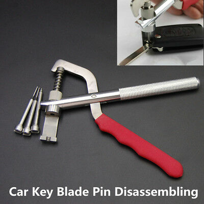 Durable Auto Remote Car Key Blade Pin Disassembling Clamp Pilers Lock Tool w/Box