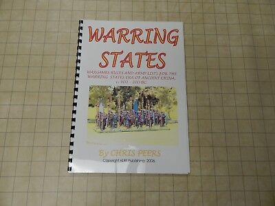 Chris Peers HLBS Publishing WARRING STATES Ancient China 400-200BC rules  mint