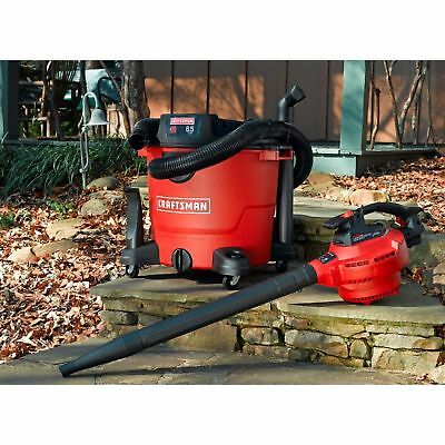 Craftsman 16 Gallon 6.5 Peak HP Detachable Blower Wet/Dry Vac Leaf Shop Vacuum @