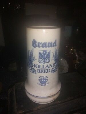 Royal Holland Brand Brewery Beer Stein Mug Tankard 16 oz Hand Made & Decorated