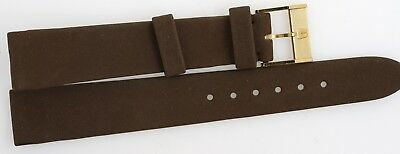 Universal Geneve Brown Suedette Gents Watch Strap With Buckle H14